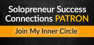 Banner: Solopreneur Success Connections PATRON Join My Inner Circle